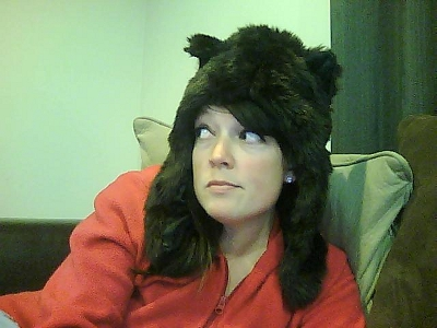 Sheepish in a bearish hat.