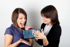 Must be a parcel full of crack for these girls to be so excited.