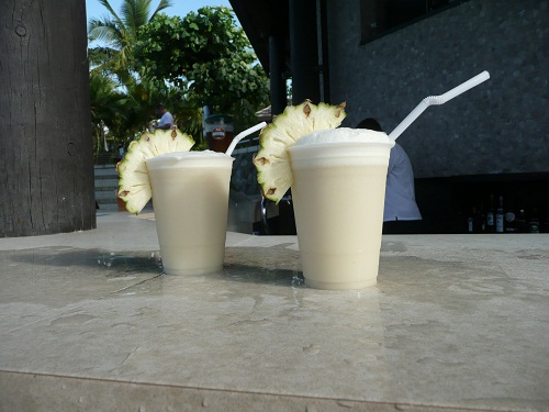 I introduced myself to the pina coladas instead.