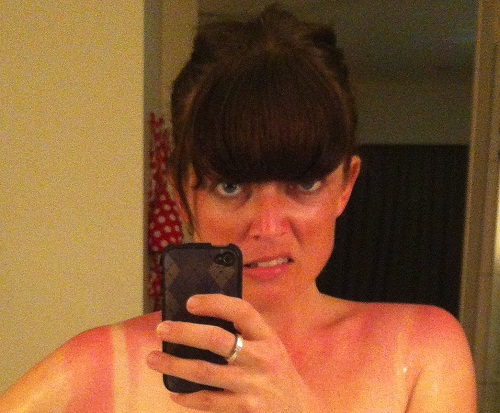 Meanwhile, I'm mostly concerned about my eventual tan lines.