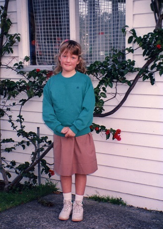 Look at those socks. There's no way this girl was ever going to grow up to be a hippy.